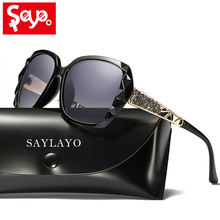 SAYLAYO 2019 High Quality Polarized Sunglasses Women Brand Designer UV400 Sun Glasses Gradient Driving lentes de sol mujer все цены