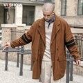 VIISHOW Пальто Мужчины Классические мужские Двойной Брестед Тренч Masculino Мужская Одежда Длинные Куртки Пальто Британский Стиль Пальто