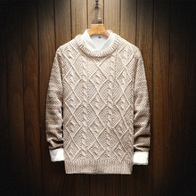 new 2017 round collar men's sweaters with thick sweater in winter to keep warm sweater