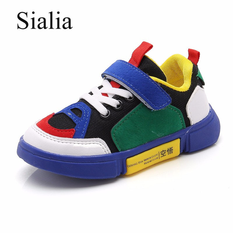 Sialia Spring Autumn Children Shoes Kids Sneakers For Girls Boys Casual Shoes Designer Sneaker Mesh Breathable School Footwear