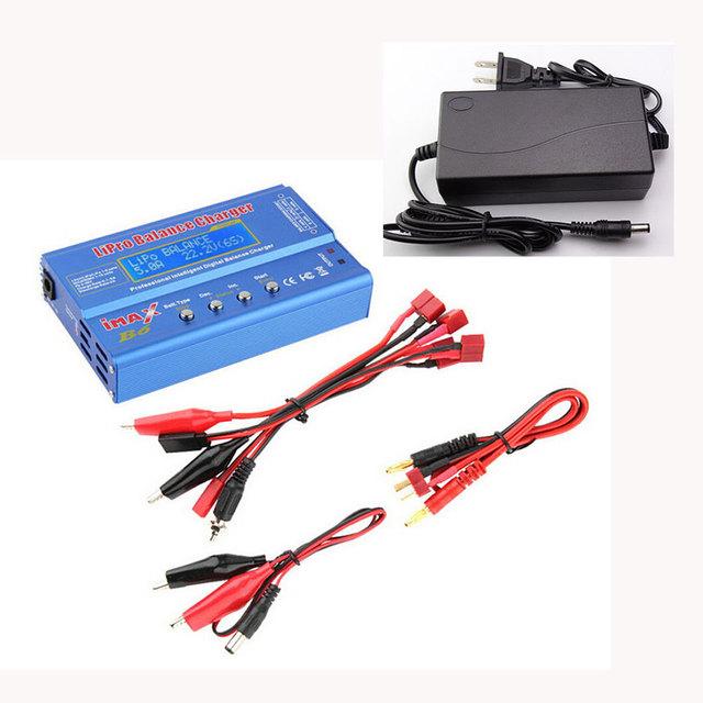 Batería Lipro Cargador Del Balance de iMAX B6 Lipro cargador Cargador Balanza Digital + 12 v 5A Adaptador de Corriente + Cable De Carga