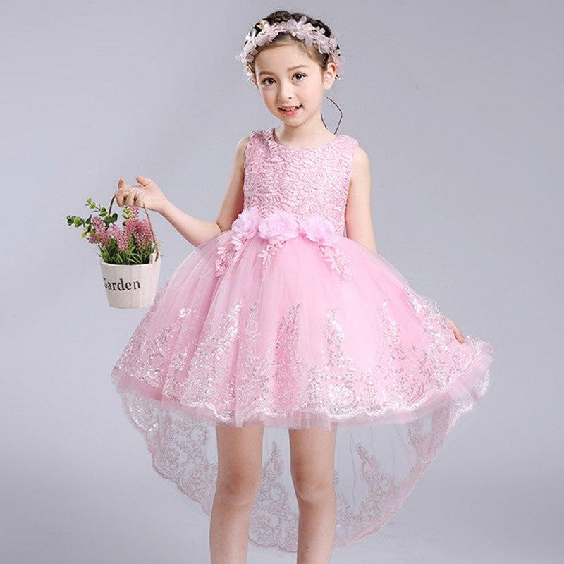 Tienda Online Niñas Vestido Rosa blanco Bow Fiesta de Cumpleaños de ...