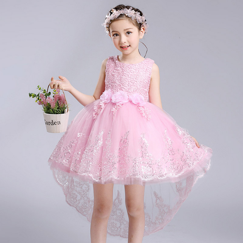 2017 summer new girls flower dresses wedding dress kids for Dresses for wedding for kids