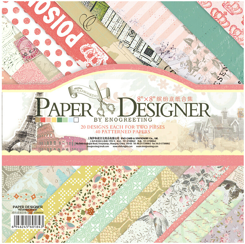 "Aliexpress Buy 8"" x 8"" PAPER DESIGNER Vintage Paris"