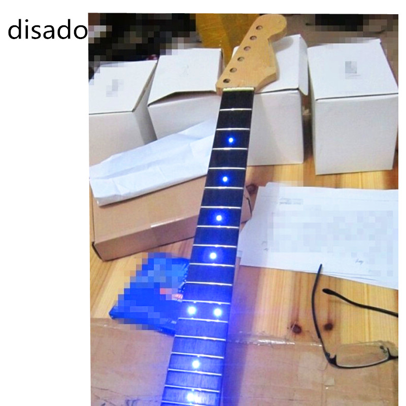 Disado incrustation LED points palissandre Fretboard érable guitare électrique cou en gros accessoires de guitare pièces d'instruments de musique