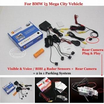 Car Parking Sensor Sensors Auto Alarm System highquality Rearview Reverse Camera For BMW i3 Mega City Vehicle