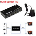 Mini 3D 4K * 2K HDMI SPlitter 1X2 HDMI 1 In 2 Out switch splitter with power supply for HDCP xbox 360 ps3