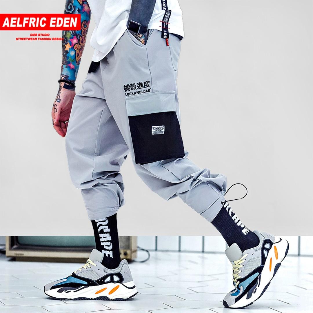 Aelfric Eden Fashion Color Patchwork Harem Pants Mens 2018 Harajuku Hip Hop Letter Printed Casual Male Joggers Streetwear Kj238 Top Watermelons