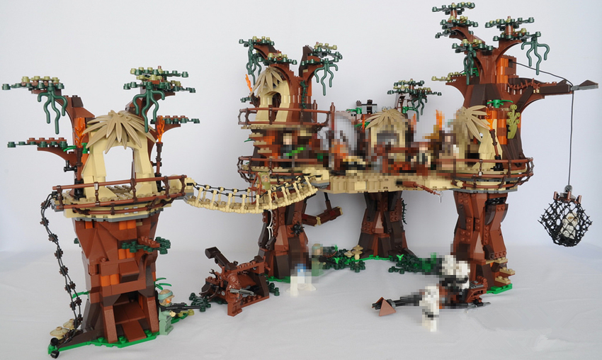 New 1990pcs Ewok Village tree top fit legoings star wars figures city model Building Blocks Bricks Juguete Toys 10236 Gifts