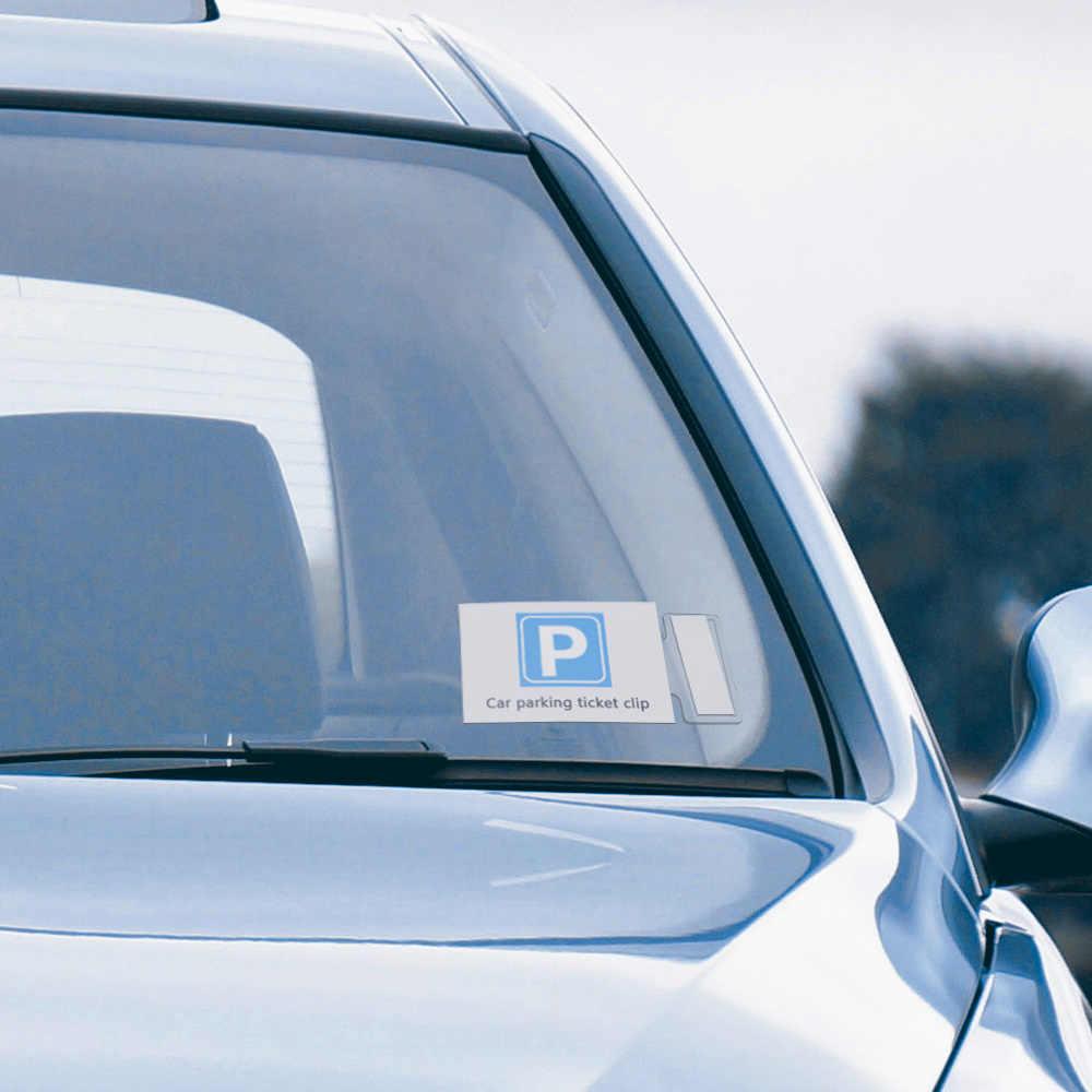 1 قطعة تصفيف السيارة وقوف السيارات تذكرة كليب السحابة السيارات بطاقة بيل حامل المنظم ملصق الزجاج الأمامي لنيسان هيونداي VW