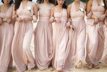 2016 Fashionable Cheap Sleeveless Empire Floor-length Pleat Chiffon Bridesmaid Dresses