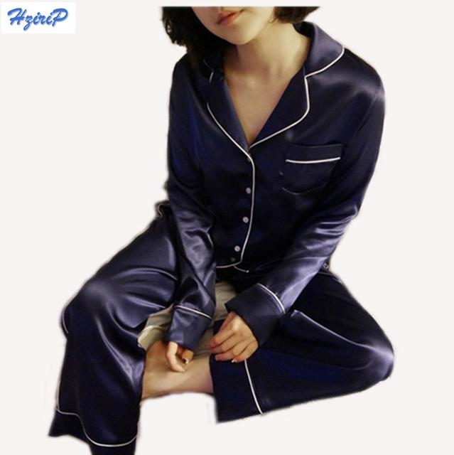 Hrizip Color Sólido 2 + Juego de Pantalones de Las Mujeres 2016 Otoño Pijamas Loungewear Pijamas ropa de Dormir Camisón del Sueño de Las Mujeres
