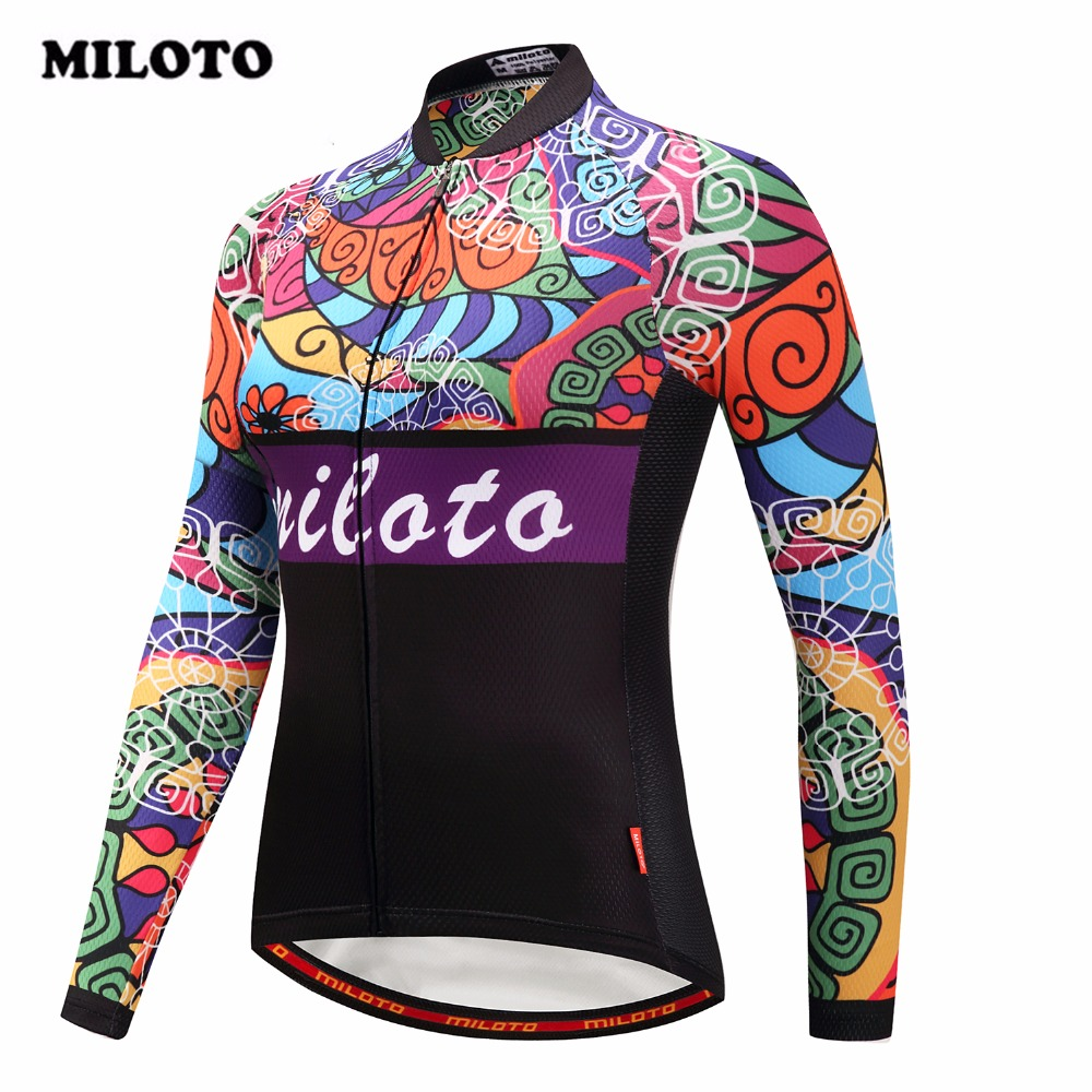 2018 Miloto Cycling Jersey Riding Road Autumn/Spring bicycle Long Sleeve Cycling Clothing Shirt Ropa Ciclismo mtb Bike Jersey