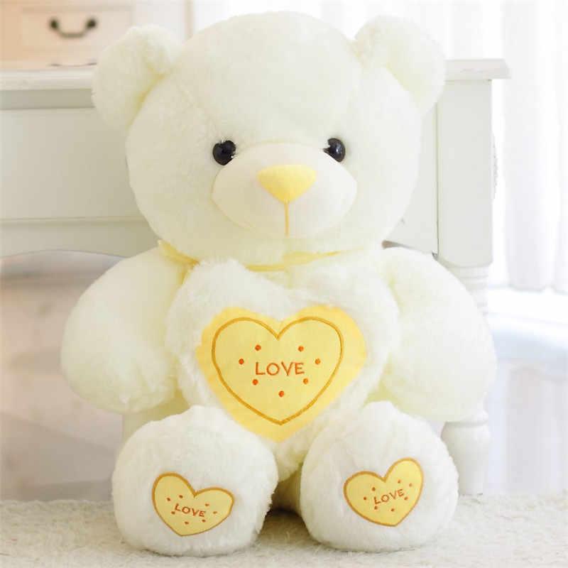 60 см Плюшевые игрушечные лошадки супер мило Сердце Медведь pp чучело из хлопка куклы дети для спокойного сна игрушка на день рождения рождественские подарки