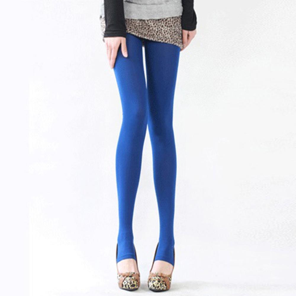 Шаг ноги женские теплые колготки 120D бархатные Collants весна осень Чулочные изделия Fantaisie сексуальные колготки эластичные Strumpfhose тонкие Medias - Цвет: Синий