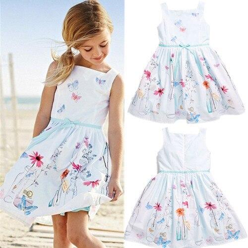 Популярные платья для девочек детская одежда белое платье на бретелях одежда для учащихся модное плиссированное платье шелковое платье дл...