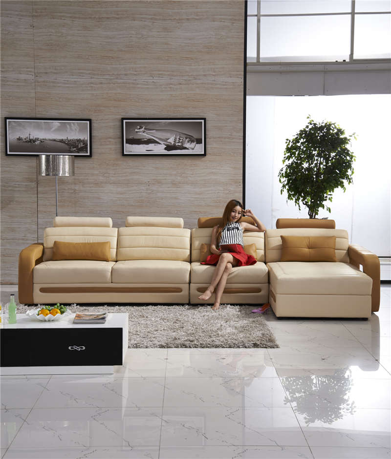 Best Genuine Leather Sectional Sofa: Top Genuine Leather Sofa-in Living Room Sofas From