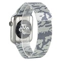 For Apple Watch Band iwatch band Stainless steel Ranbow military camouflage Milanese Mesh Loop Strap Watchband Classic 42mm 38mm