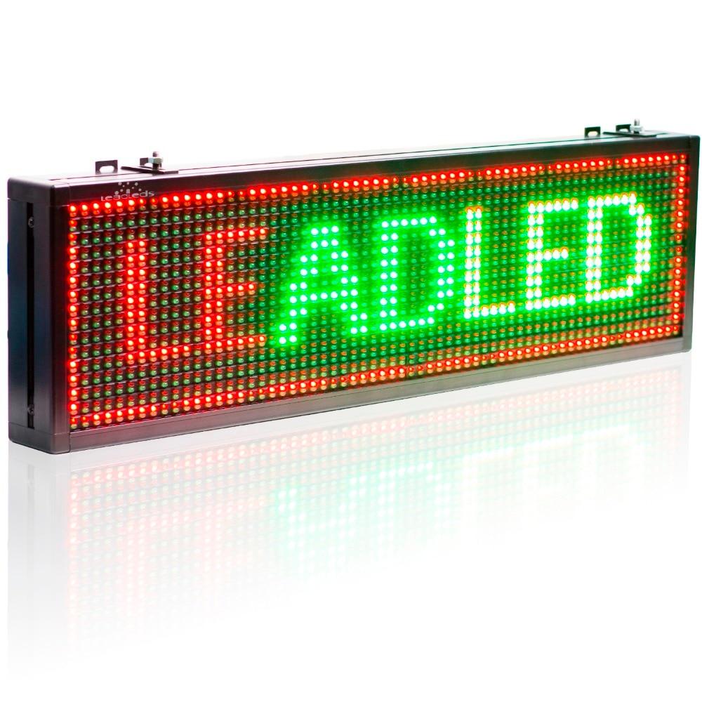 P10 мм полууличный вариант Wi Fi пульт для Управление светодиодная вывеска красный зеленый желтый трехцветный текст Дисплей доска с бегущей строкой Панель