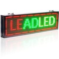 P10 mm semi outdoor wifi Remote Control Led Sign Red Green Yellow Tri color Text Display board Moving Message Panel