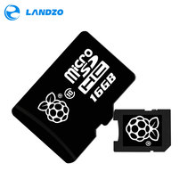 Buy online Official NOOBS Preloaded 16GB Micro SD Card for Raspberry Pi 3 Model B 16G TF Card for BPI 3 Banana M2 M1+plus D R1
