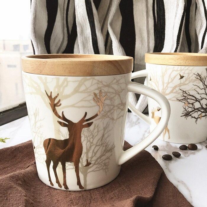 Porzellan Weihnachten.Us 29 5 Neuheit Weihnachten Goldene Rentier Porzellan Tasse Personlichkeit Milch Saft Becher Trinkbehalter Office Home Einzigartiges Geschenk In