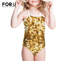 Gold Pring Slim One Piece Summer Swimwears for Kids Comfort Beach Cloth Bath Suits Summer Fatos De Banho Badeanzug Swimming Suit