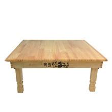 Площадь корейский складной столик природные отделка Современная Стиль Мебель для гостиной пол Чай стол для столовой Kang стол деревянный