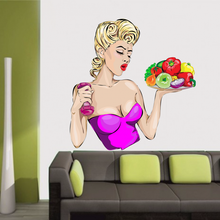 Sex Health and Fitness Fruit Girl Wall Vinyl Sticker Pattern Custom Home Decor Wedding PVC Wallpaper Art Design Poster