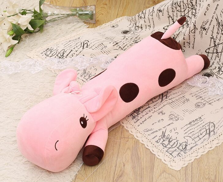 huge plush cartoon spots giraffe toy new pink giraffe pillow doll about 130cm the huge lovely hippo toy plush doll cartoon hippo doll gift toy about 160cm pink