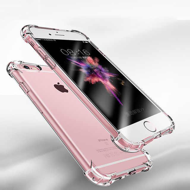 スーパー耐震ソフト Iphone × 10 8 7 6 s 6 s プラス 6 プラス 6 s-plus 7 プラス 8 プラスプロテクターファッションクリア携帯電話カバー