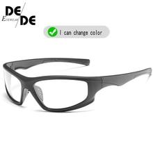 Hot Sale Polarized Photochromic Sunglasses  Anti-Glare Brand Rectangle Chameleon Driving Fishing Square