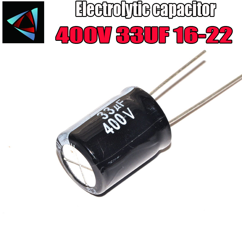 Higt Quality 400V 33UF 16-22mm 33UF 400V 16*22 Electrolytic Capacitor
