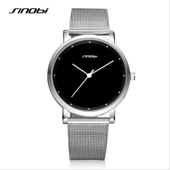 Marca de Luxo Relógios de Pulso para Mulheres dos Homens do Relógio de Aço Relógios do Relógio para Mulheres dos Homens Amantes da Moda Sinobi Inoxidável Relógio Top