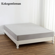 1PCS Fitted Sheet Solid Color Bed Sheets With Elastic Band Double Queen