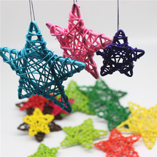 20PCS/Lot 6CM Lovely Rattan Star Sepak Takraw Birthday&Home Wedding Party Decorations DIY Ornaments Ball Kids Toys