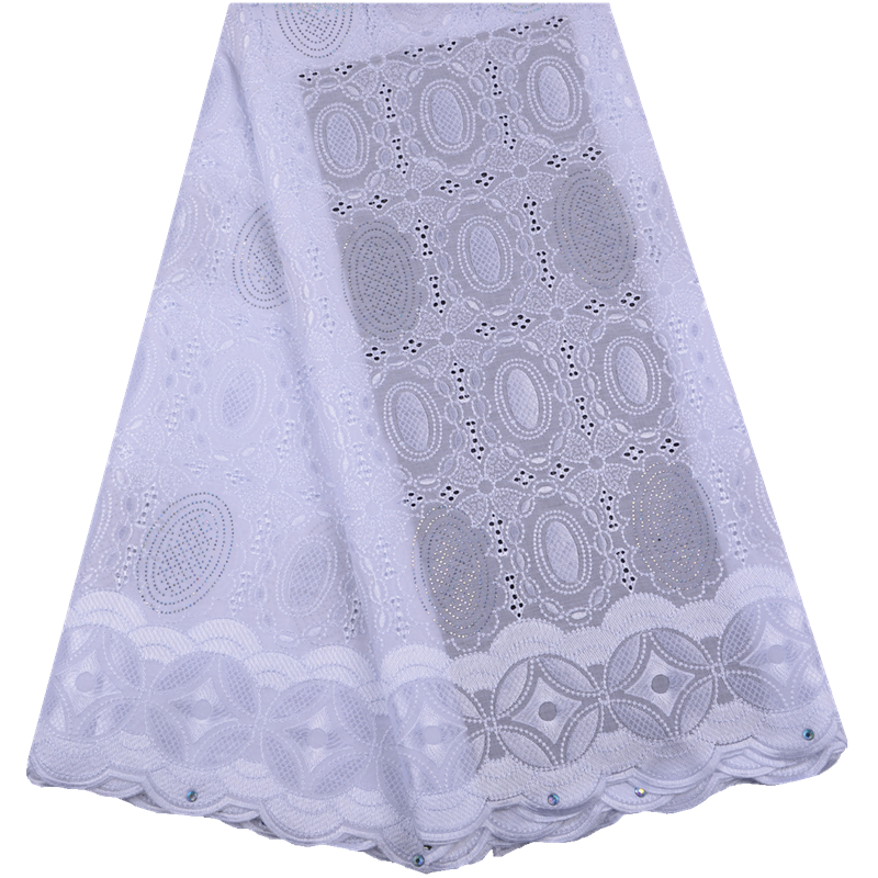 Niebieski kolor szwajcarski koronkowy woal w Szwajcarii najnowszy bawełna koronki tkaniny z dużą ilością kamieni afryki koronki materiały na ślub F1510 w Koronka od Dom i ogród na  Grupa 3