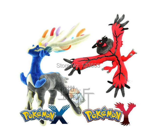 20pcs/lot 30cm Pokemon Cernunnos Xerneas Quetzal Yveltal Cartoon Video Movies PP Cotton Stuffed Animals Plush Toys Anime Gift