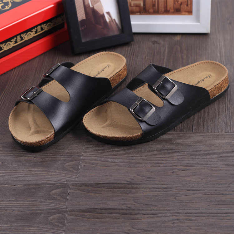 Hot Sale Lovers Casual Fashion Cork Slippers Male Summer Man Woman Beach Flip Slip-resistant Trend Of Sandals Big Plus Size 46