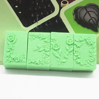 free shipping handmade soap silica gel mould candle soap mould silicone mold for DIY 4-hole flower