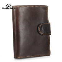 Fashion New Short 3 Fold Wallet For Men Purse ID Credit Card Holder PU Leather Masculina