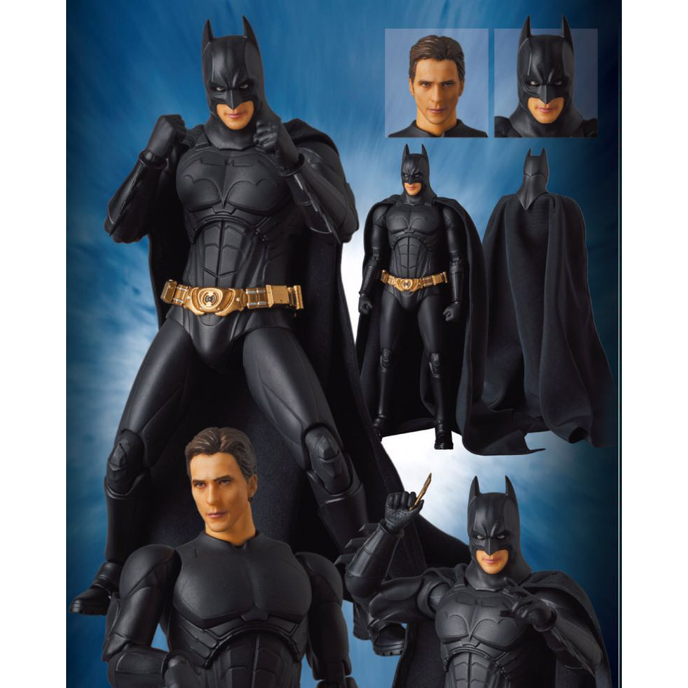 MAFEX NO. 049 Batman BEGINS SUIT The Dark Night PVC Action Figure Collectible Model Toy Doll Gift for Kids 18cm neca batman begins bruce wayne joint movable pvc action figure collectible model toy 7 18cm