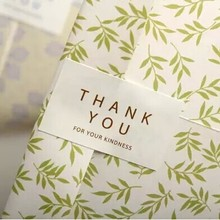 80PCS/Lot NEW DIY THANK YOU FOR YOUR KINDNESS White Seal Label Custom Adhesive Stickers