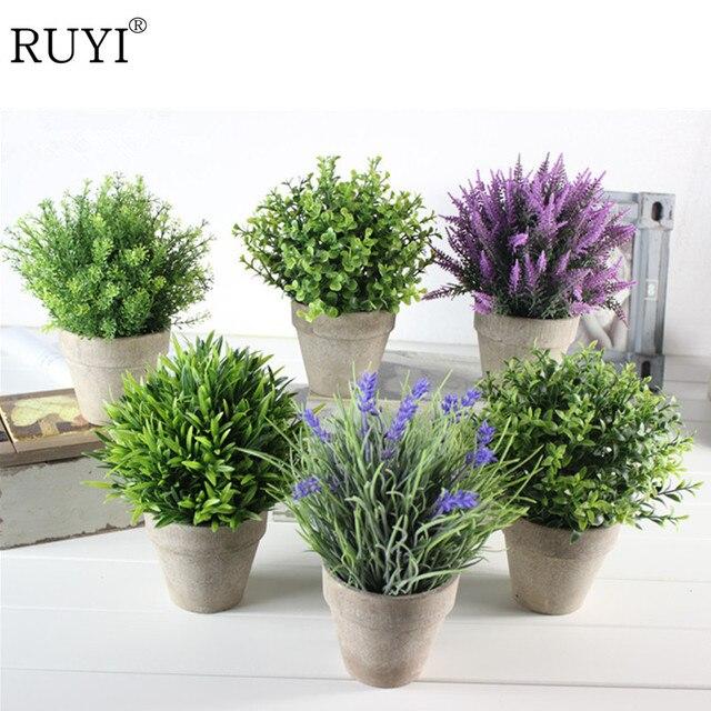 Kunstliche Grune Pflanze Lavendel Kunstliche Miniascape Bonsai Topf