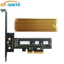 цена на Key M.2 NVMe SSD NGFF Type To PCIE PCI-E PCI Express 4X Adapter Card With Heatsink Computer Adapter For PC