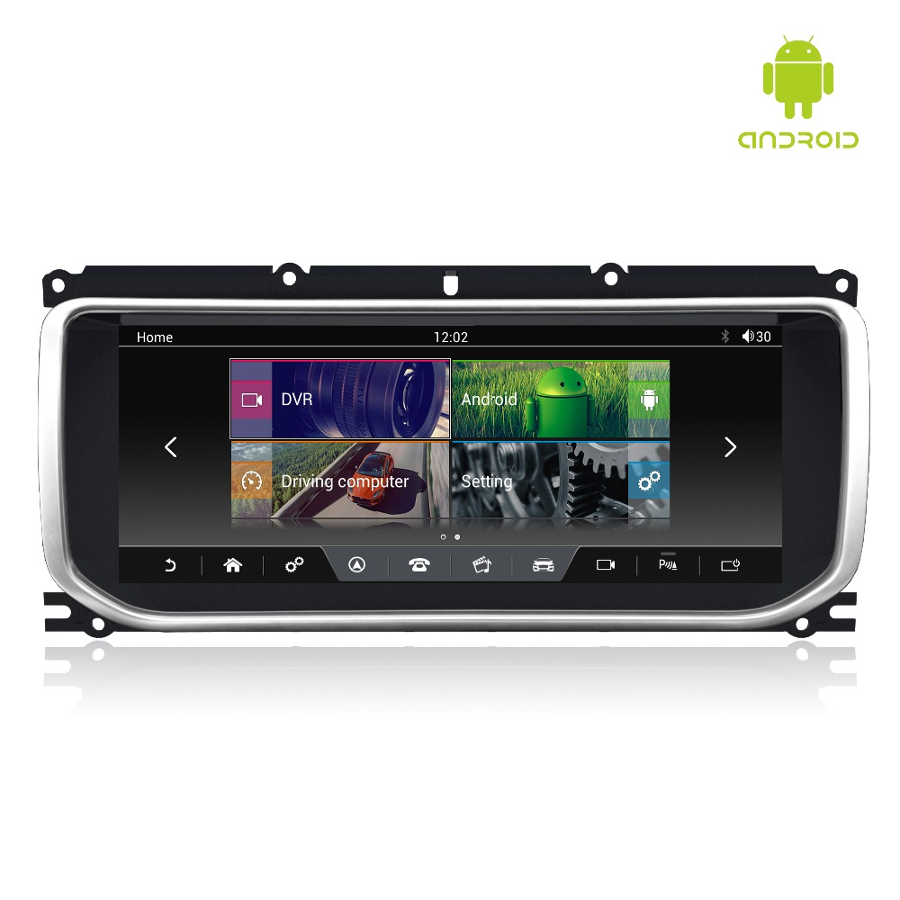 MERRYWAY 10.25 ''per RANGE ROVER EVOQUE 2012-2016 Dashboard Multimedia Navi GPS Bluetooth Android6.0 RAM + ROM 2 + 32 GB Lettore