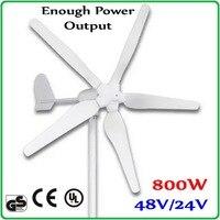 800 W 48 V или 24 V ветряной генератор с 1700 мм ротора Диаметр 100% достаточно выходная мощность ветра генераторС максимальной мощностью 1000 W