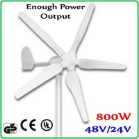 800W 48V or 24V Wind Turbine Generator with 1700mm Rotor Diameter 100% enough power output wind generator Max 1000W