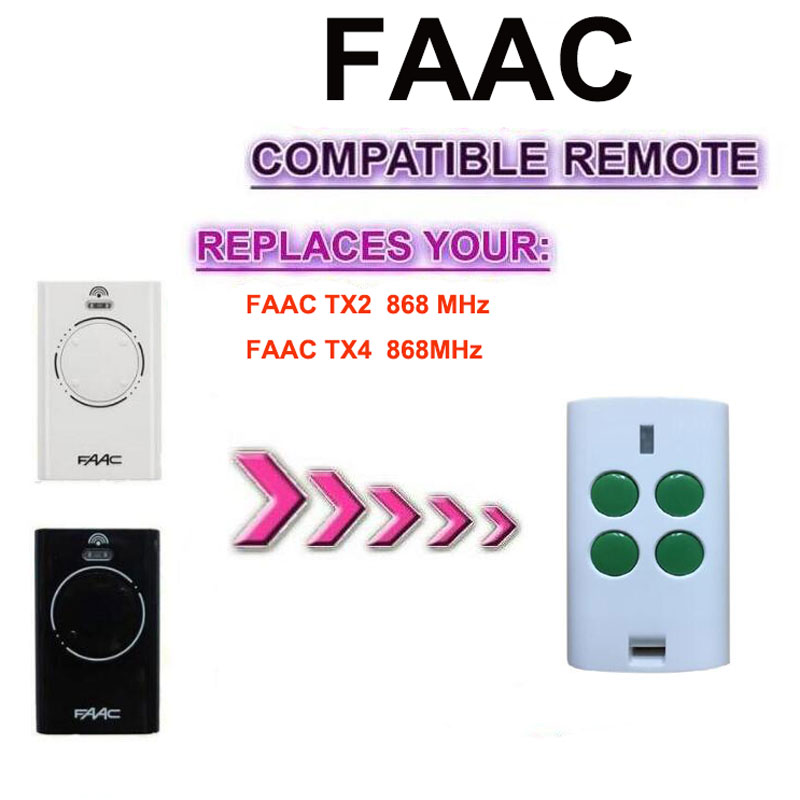FOR FAAC XT2 XT4 868SLH transmitter remote clone faac xt2 xt4 868 slh lr replacement garage door remote control 868mhz high quality