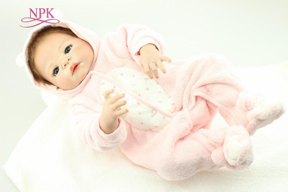 NPK NEW design hotsale lifelike real touch baby dolls in Pink plush suit fashion doll Christmas gift hotsale 10pcs set pink
